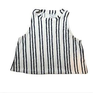 Madewell Texture & Thread Cream /Blue Stripe Tank